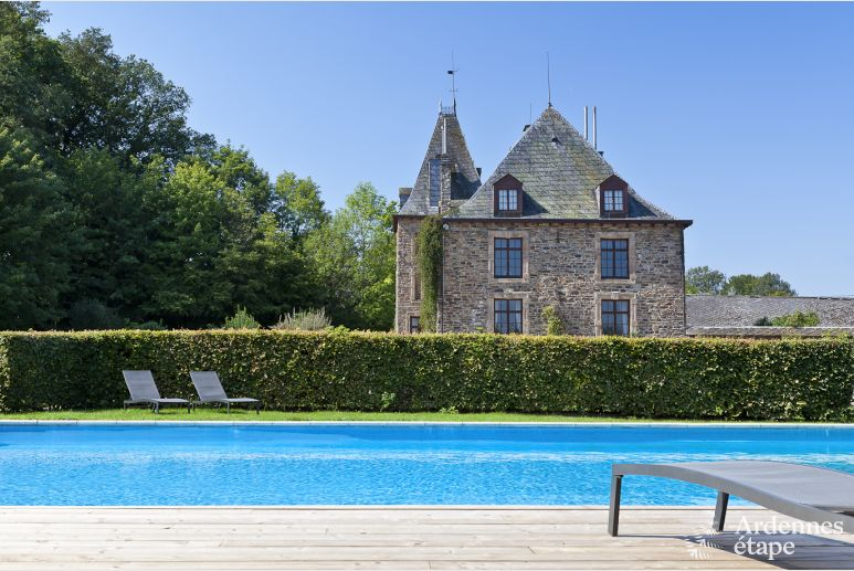 Schloss Trois-Ponts 15 Pers. Ardennen Schwimmbad Wellness