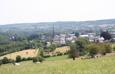 Une des promenades pédestres à Vielsalm-Promenades pédestres balisées bis Provinz Luxemburg