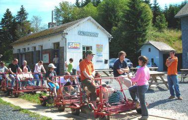 Railbike des Hautes Fagnes-Rail Bike bis Provinz Lüttich